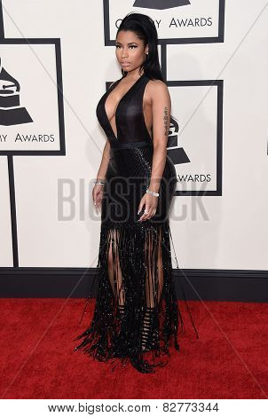 LOS ANGELES - FEB 08:  Nicki Minaj arrives to the Grammy Awards 2015  on February 8, 2015 in Los Angeles, CA