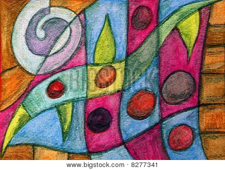Colorful Abstract Landscape Painting