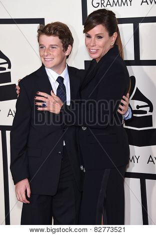LOS ANGELES - FEB 08:  Melissa Rivers & Edgar Cooper Endicott arrives to the Grammy Awards 2015  on February 8, 2015 in Los Angeles, CA