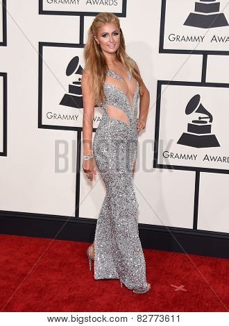 LOS ANGELES - FEB 08:  Paris Hilton arrives to the Grammy Awards 2015  on February 8, 2015 in Los Angeles, CA