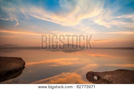 Twilight on a Lake