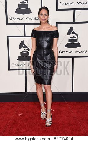 LOS ANGELES - FEB 08:  Louise Roe arrives to the Grammy Awards 2015  on February 8, 2015 in Los Angeles, CA