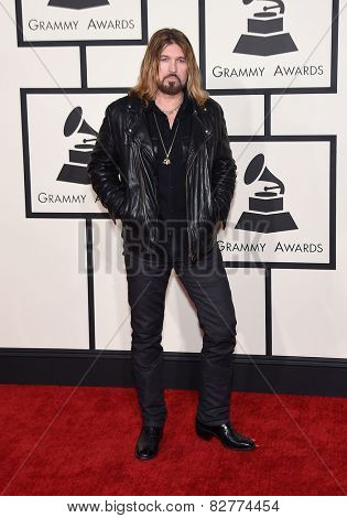 LOS ANGELES - FEB 08:  Billy Ray Cyrus arrives to the Grammy Awards 2015  on February 8, 2015 in Los Angeles, CA