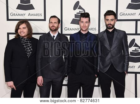 LOS ANGELES - FEB 08:  Bastille arrives to the Grammy Awards 2015  on February 8, 2015 in Los Angeles, CA
