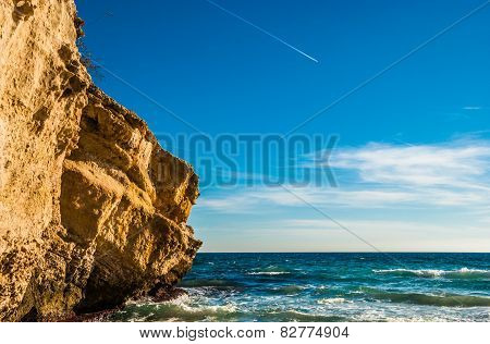 Rock Cliff of Majorca Island at Balearic Islands