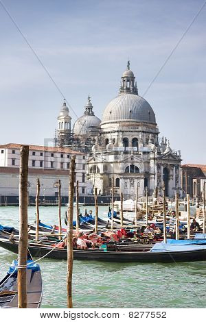 Grand Canal And Santa Maria Della Salute Basilica