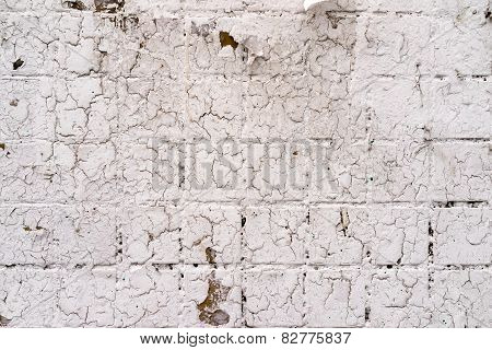 Neutral White Square Tile Pavement Background