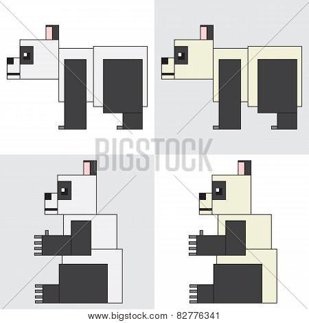 symbol icon rectangle animal panda