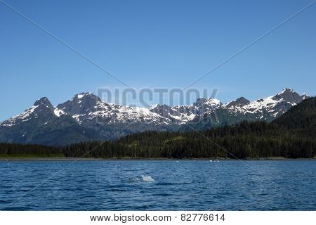 Mountains in Prince William Sound