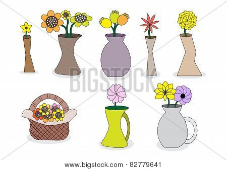 Beautiful Cartoon Flower Vases