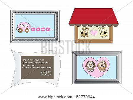 Cute Cartoon Frames About Love