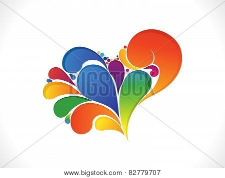 Abstract Artistic Colorful Valentine Heart