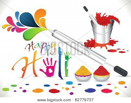 Abstract Artistic Holi Background