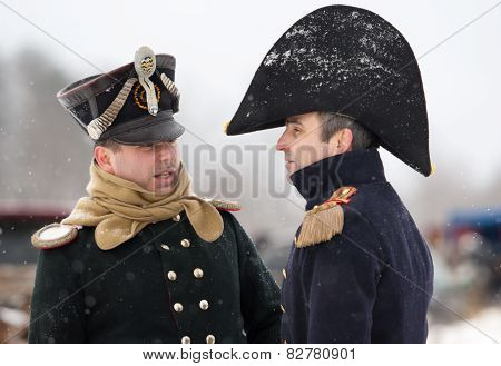 Two Napoleonic War Russian Oficcers