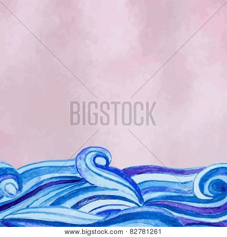 Vector watercolour background