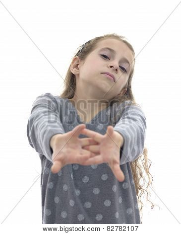 Girl Stretching Her Arms