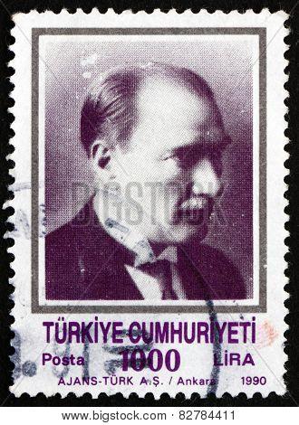Postage Stamp Turkey 1990 Mustafa Kemal Ataturk
