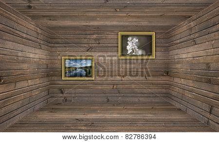 Empty Wooden Room