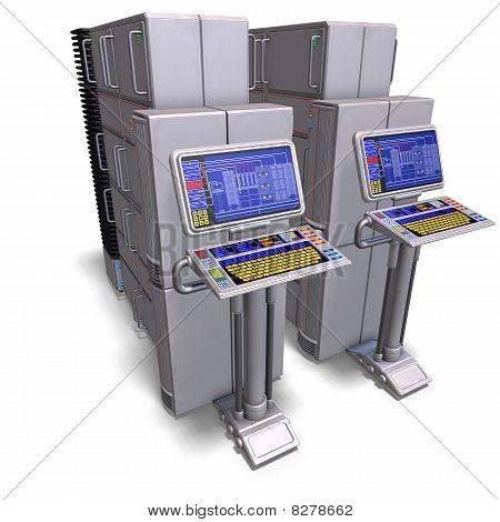 eine historische Science-Fiction-Computer oder