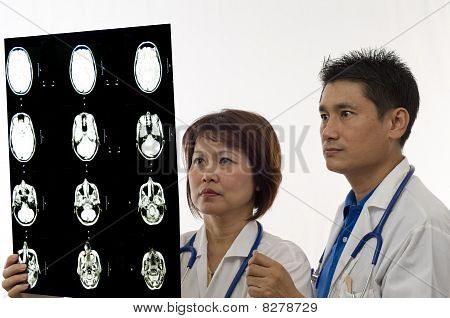 Doctors Looking At Mri