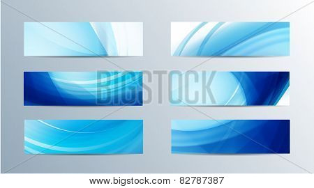 set of vector abstract wavy banners