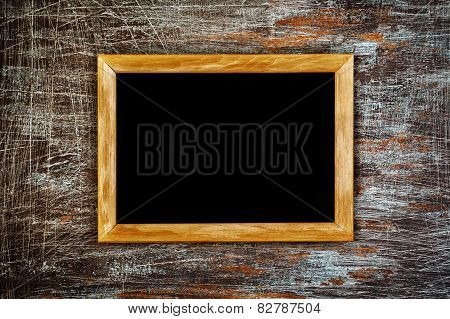 Grunge Background With Wooden Frame