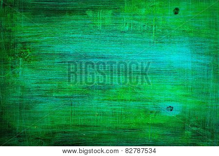 Grunge Bright Background With Green Color