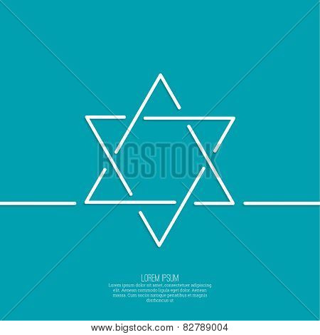 Star of david. Vector.