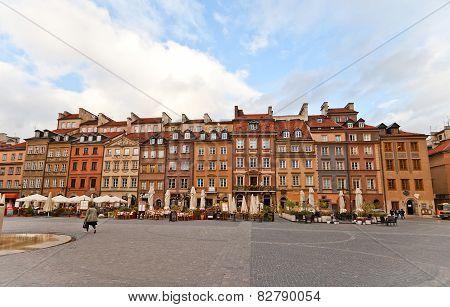 Hugo Kollataj Side Of Old Town Market Place. Warsaw, Poland