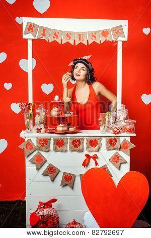 Girl Eats Cake.