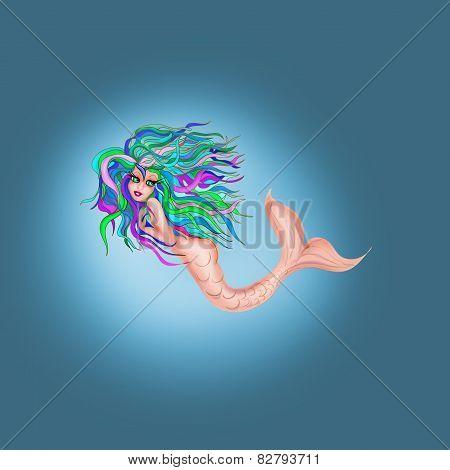 Mermaid cartoon character