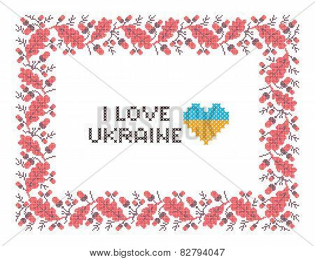 Ornamental frame national Ukrainian