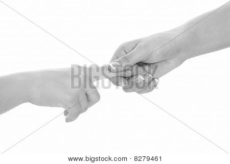 Handshake Black And White Isolated