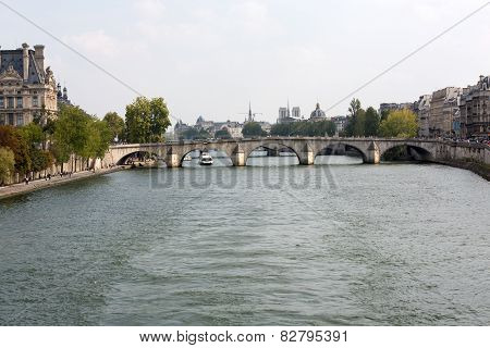Paris - Seine between Louvre and the Museum D'Orsay