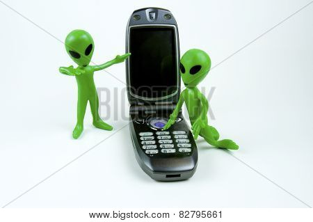 Aliens Calling On Cell Phone