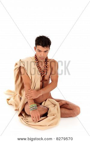 Attractive Nepalese Young Man, Yoga