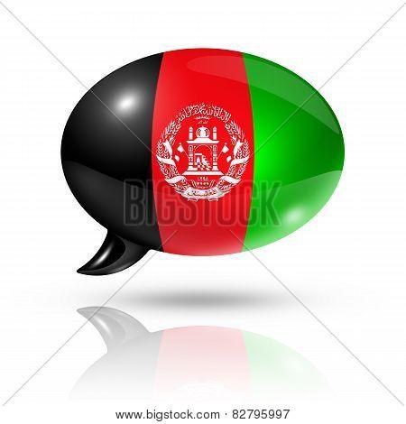 Afghan Flag Speech Bubble