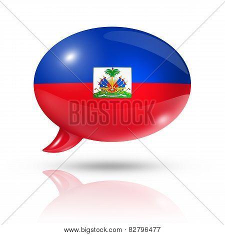 Haitian Flag Speech Bubble