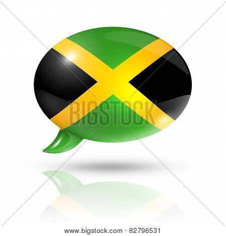 Jamaican Flag Speech Bubble