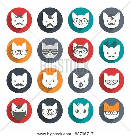 Stylized Cats avatar set