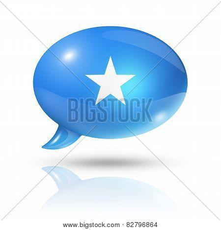Somalian Flag Speech Bubble