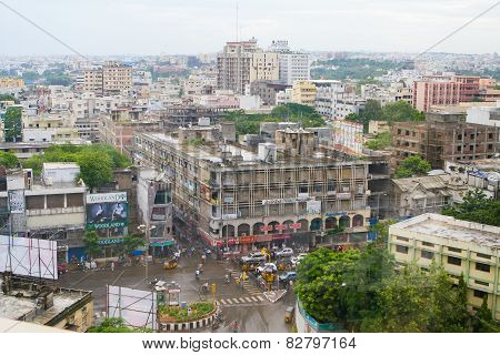View On The Center Of Hyderabad, India