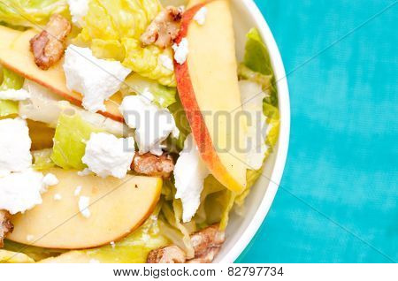 Sugar Beet Apple Walnut Salad