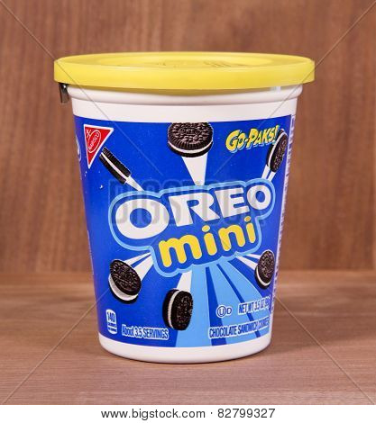 Container Of Oreo Mini Cookies