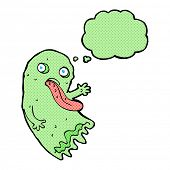 pic of grossed out  - gross cartoon ghost with thought bubble - JPG
