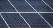 image of century plant  - Diagonal close up of panes from a solar power plant - JPG