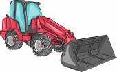 pic of wheel loader  - Compact mini loader with bucket isolated on a white background - JPG
