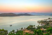 Постер, плакат: Sunset at Mirabello Bay on Crete Greece
