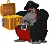 picture of gorilla  - Gorilla harsh pirate - JPG