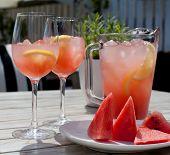 foto of watermelon slices  - Fruit Lemonade - JPG